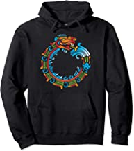 Ouroboros Quetzalcoatl Feathered Serpent Aztec Mayan Pullover Hoodie