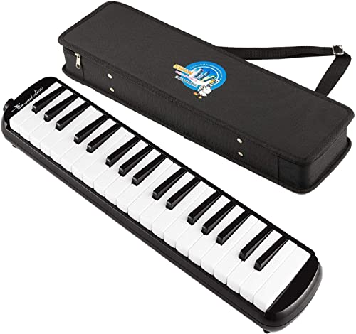 Swan® 37 Key Melodica with Case (Black)
