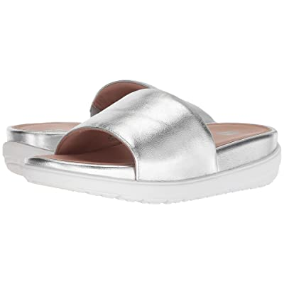 FitFlop Loosh Luxetm Leather Slide Sandals (Silver Metallic Leather) Women