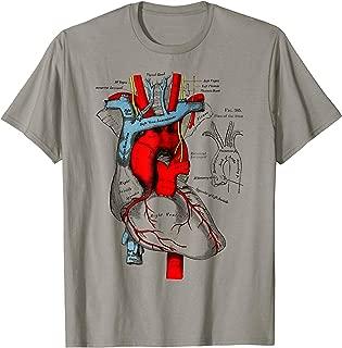 Vintage medical Human Heart T-Shirt Anatomy Illustration