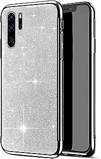 Herbests Etui silikonowe kompatybilne z Huawei P30 Pro, etui z tworzywa TPU Bling Glitter Strass Diament Etui ochronne Ult...