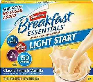 Carnation Instant Breakfast No Sugar Added, Vanilla,No Sugar Added, 8-Count/0.705 Packets (Pack - 4)