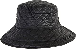 ANGELA   WILLIAM Cute Foldable Water Repellent Quilted Bucket Cap  w Adjustable Drawstring 25e219c65811