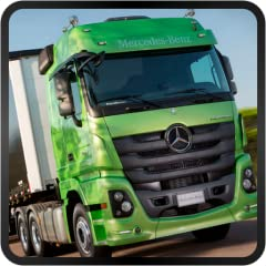 Real trucks Beautiful photography Steering wheel or accelerometer control GPS Speed control