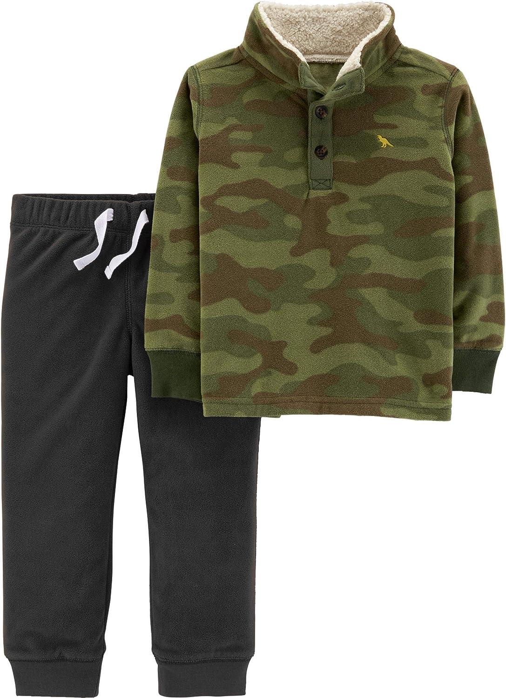 Carter's 2 Piece Shirt and Pants Set, Camo Pullover, 6 Months