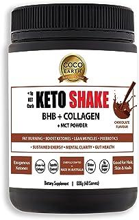 COCO EARTH Keto Shake - BHB + Collagen + MCT Powder, 40 serves, Chocolate 800 grams