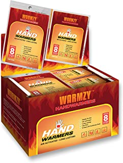 (10-Pairs / 20 Warmers) Hand & Body Warmers - Air Activated Heating Packs for Hands, Toes and Body - Safe and Odorless - 8 Hours of Continuous Heat - TSA Approved