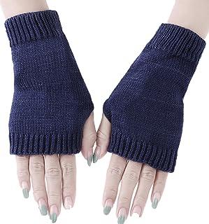 BODY STRENTH Womens Knit Fingerless Gloves Winter Warm