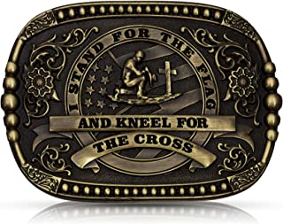 I Stand for the Flag Heritage Attitude Buckle
