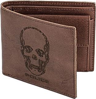 محفظة ايدول باللون البني مع حامل عملات نقدية من بوليس - مقاس