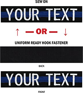 Custom Uniform Name Tapes, 50 Fabrics Made in The United States. Same Day Ship.
