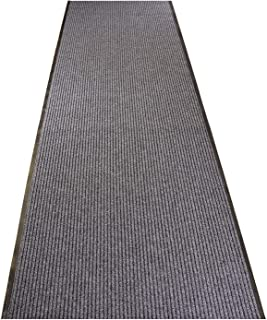 Tough Collection Custom Size Entry Mat Roll Runner Utility Mat Slip Skid Resistant PVC Backing Anti Bacterial (Grey, 36 in x 3 ft)