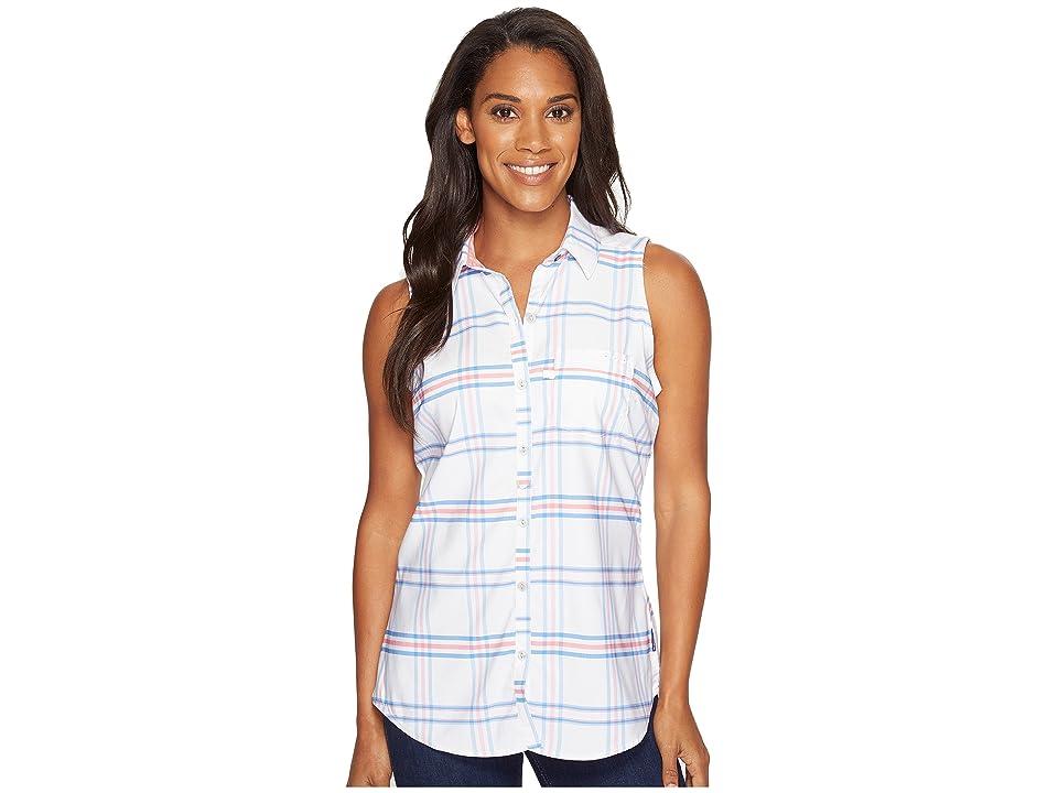 Columbia Super Harborside Woven Sleeveless Shirt (Harbor Blue Windowpane Plaid/Lollipop) Women