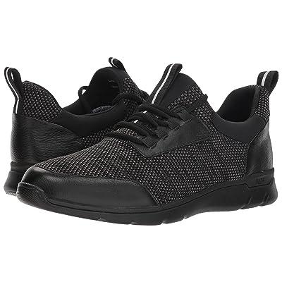 Johnston & Murphy Waterproof Prentiss XC4(R) Moc Toe Sneaker (Black Waterproof Full Grain/Knit) Men