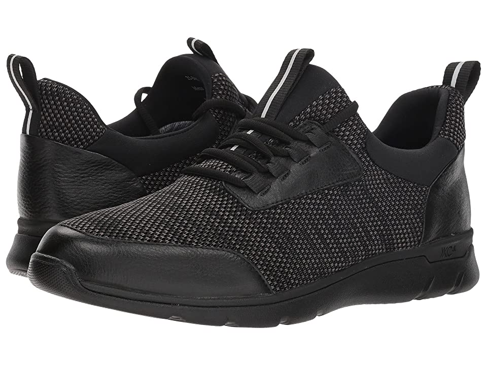 Johnston & Murphy Waterproof Prentiss XC4(R) Moc Toe Sneaker (Black Waterproof Full Grain/Knit) Men