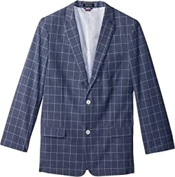 Tommy Hilfiger Kids - Straited Windowpane Blazer (Big Kids)