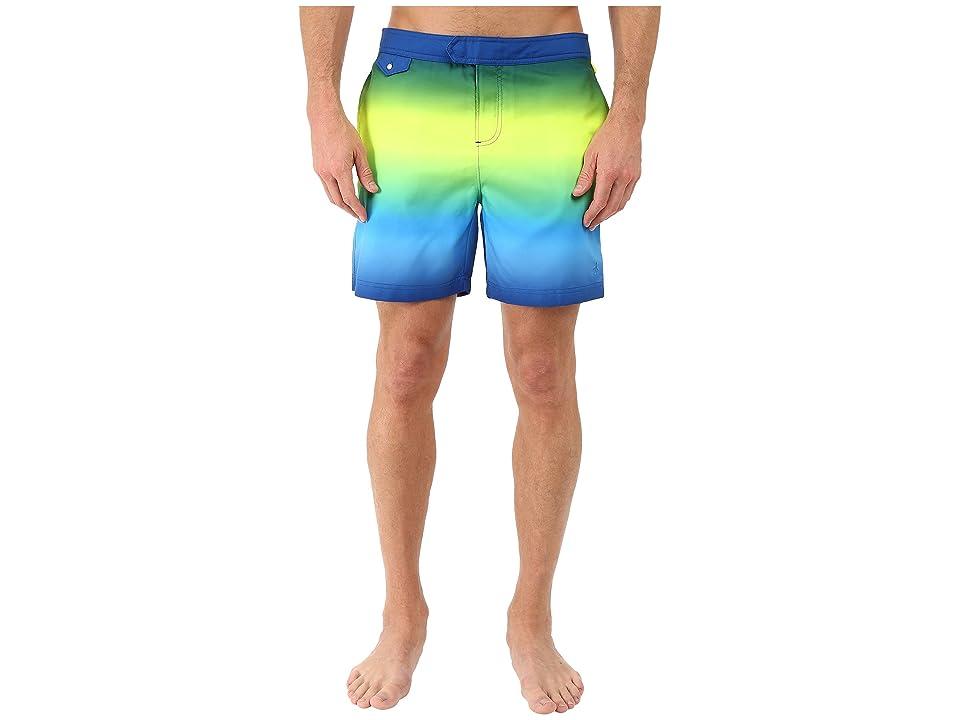 Original Penguin Gradient Fixed Volley Swim Shorts (Deep Water) Men