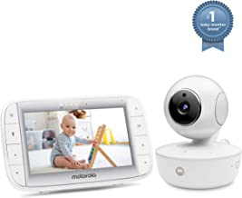 """Motorola MBP36XL Video Baby Monitor 5"""" Color Parent Unit, Remote Pan/Tilt/Zoom, Portable Rechargeable Camera, Two-Way Audio, Night Vision, 5 Lullabies"""