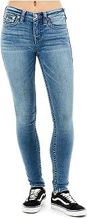 True Religion Women's Halle Super Skinny Stretch Jeans w/Flap Pockets in Light Gaze