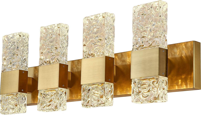 discount LED Crystal Gold Bathroom Vanity 40W Max 51% OFF Lights Modern Brus Fixtures