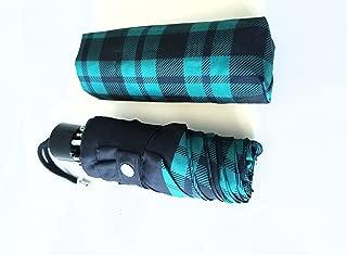 COACH F56050 RILEY PLAID MINI UMBRELLA (green)