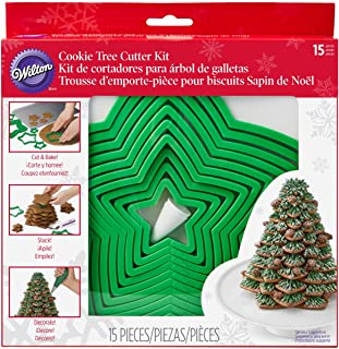 Wilton Cookie Tree Cutter Set, Green, 1.91 x 20.96 x 21.92 cm