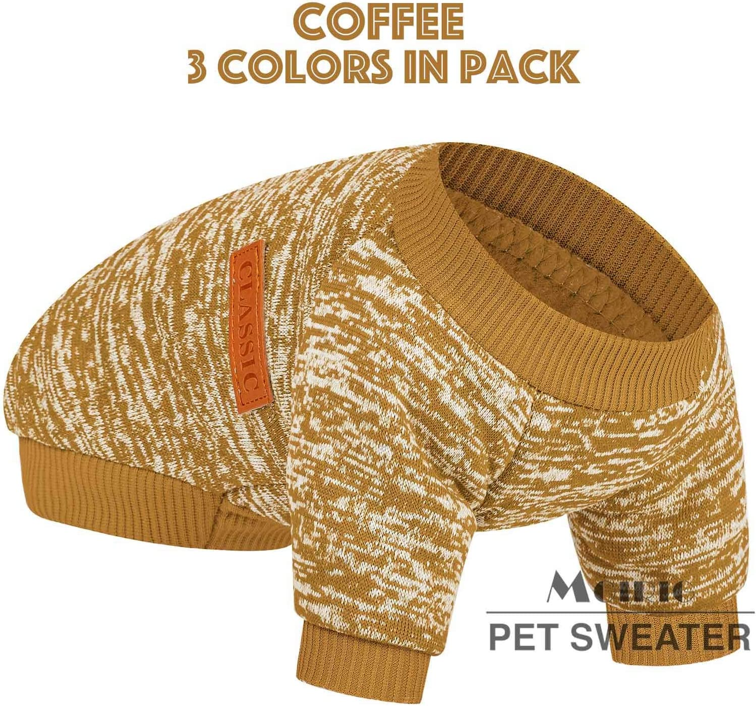 Dog Sweater for Small Medium Large Dog or Cat Small Dogs Girl or Boy Dog Sweaters Shirt Jacket Vest Coat for Winter Christmas Warm Soft Pet Clothes for Puppy S, Pink+Purple+HotPink
