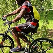 Lixada Ropa de Ciclismo para Hombre,Manga Corta Transpirable Pantalones Cortos Acolchados,Traje de Ropa de Bicicleta de Monta/ña