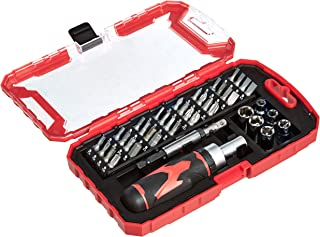 AmazonBasics 41-Piece Magnetic Ratchet Screwdriver Set