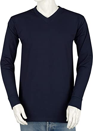 77e3d1fdbed8 Styllion Big and Tall V Neck Shirts for Men - Long Sleeve - Heavy Weight