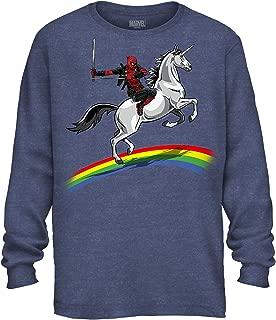 Deadpool Funny Humor Pun Unicorn Avengers X-Men Dead Pool Glory Graphic Men's Adult Long Sleeve Shirt