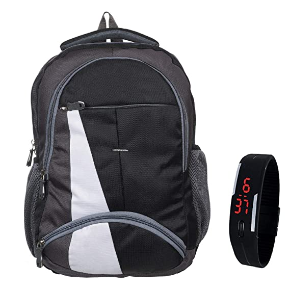 BLUTECH Waterproof,Laptop College School Bag for Boys+ Free Black LED