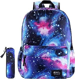 Galaxy School Backpack Bookbag Casual Daypack Travel Laptop Backpack for Girls Women Teenagers
