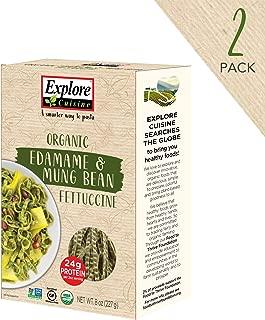 Gluten-Free Pasta - Organic Edamame & Mung Bean Fettuccine - 8 Ounce Boxes (Pack of 2)