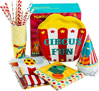Circus Party Supplies – Set for 16 Guests - Carnival Party Supplies – Circus Themed Party Supplies - Carnival Party by Tigerdoe