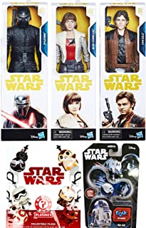 Mini Character Favorite Bounty Han Solo Action Story Figure Star Wars Set Bundled with Mystery Minis Plushie Keychain Qi'Ra Corellia & Bad Guy Kylo Ren Last Jedi + R2-D2 Toy