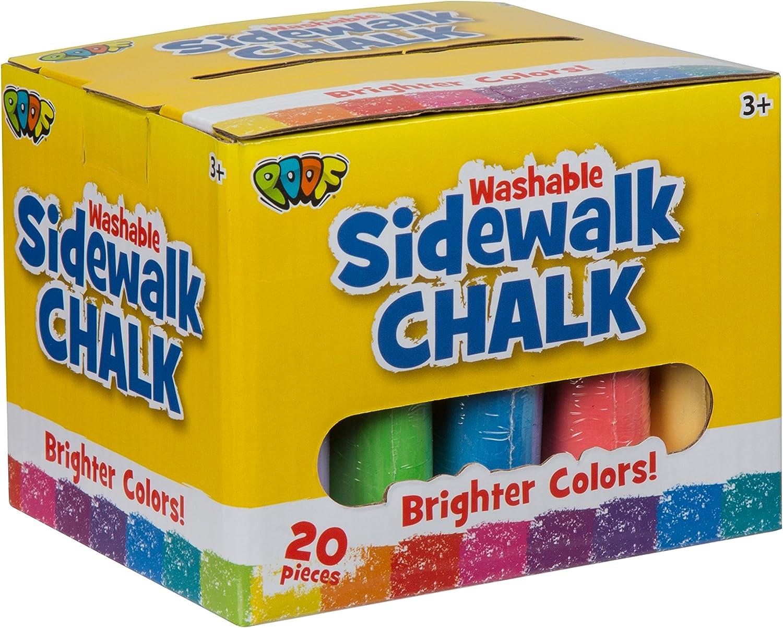 Slinky 209695 Jumbo Sidewalk Chalk 20 Pkg, Multicoloured, 12.16 x 14.7 x 12.16 cm
