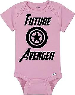Superhero Comic Book Baby Onesie® - Future Avenger - Marvel MCU Captain America Shield Bodysuit - Handmade Baby Bodysuit For Boys And Girls - Baby Shower Gift Idea