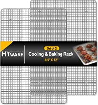 """Hiware 2-Pack Cooling Racks for Baking - 8.5"""" x 12"""" - Quarter Size - Stainless Steel Wire Cookie Rack Fits Quarter Sheet P..."""
