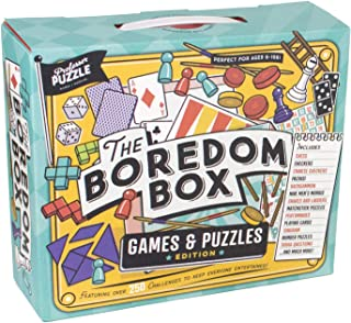 Professor Puzzle THE BOREDOM BOX - Huge Games & Puzzles Set - Over 250 Activities from Classic Board Games to lateral Thin...