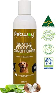 PETWAY Petcare Gentle Protein Conditioner with Aloe Vera – Dog Conditioner for Healthy Shiny Coat - Dog Hair Detangling Co...