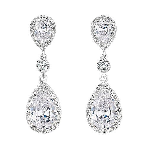 Bridal Teardrop Earrings: Amazon.com