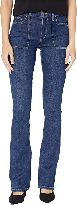 High-Rise Microflare Jeans in Talia