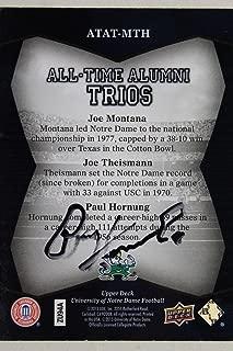 Paul Hornung Autograph Signed 2013 Upper Deck Notre Dame Alumni Football Card17G