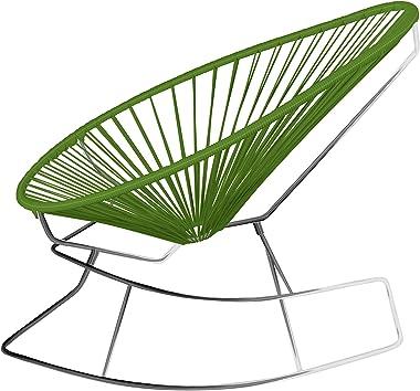 Innit Designs 15-03-11 Junior Acapulco Rocker, Cactus On Chrome