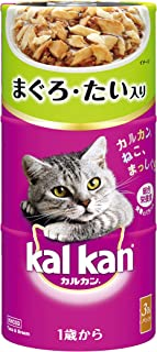 カルカン ハンディ缶 成猫用 1歳から まぐろとたい 160g×3缶×18個 [キャットフード]