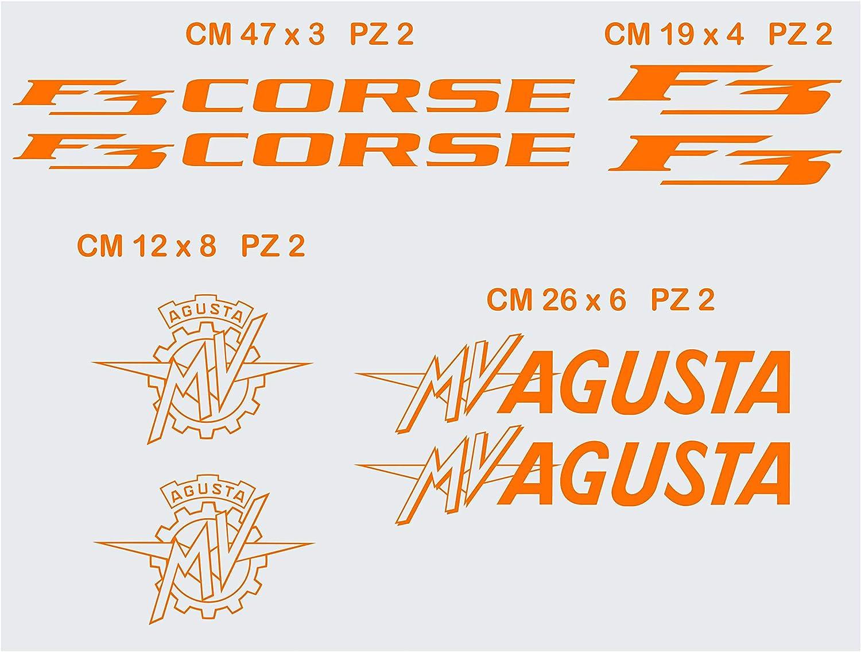 Aufkleber Stickers Mv Agusta Mvagusta F3 Corse Motorrad Cod 0580 Arancione Cod 035 Sport Freizeit