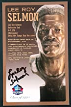 PRO FOOTBALL HALL OF FAME Lee Roy Selmon Signed Bronze Bust Set Autographed Card with COA (Limited Edition 1 of 150)