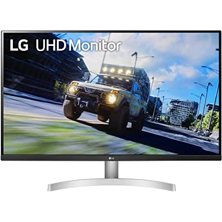 LG 32UN500-W 32 Inch UHD (3840 x 2160) VA Display with AMD FreeSync, DCI-P3 90% Color Gamut, HDR10 Compatibility, and 3-Side Virtually Borderless Design, Silve/White