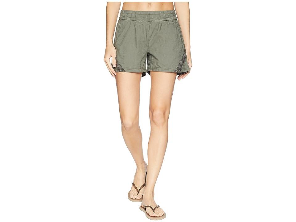 Prana Hermione Shorts (Green Jasper) Women